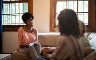 Woman working as a mental health advocate