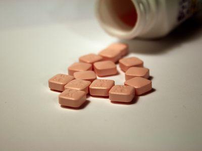 Pristiq pills on a counter