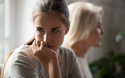 Stubborn mom and daughter avoid talking after conflict