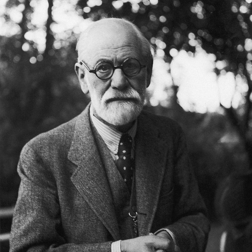 Sigmund Freud standing outdoors