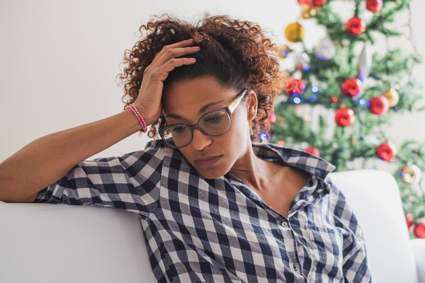 Black woman with the holiday blues