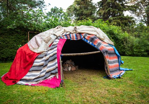 Traditional native sweat lodge