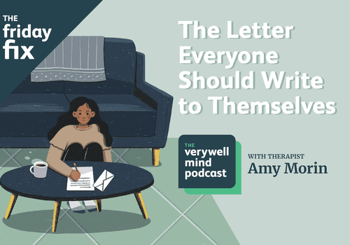 The letter everyone should write to themselves. Woman on floor writing a letter.