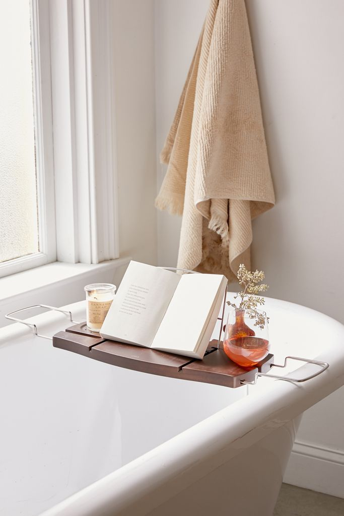 Urban Outfitters Me Time Bamboo Bath Tray Caddy