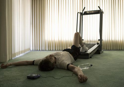 Man Collapsed on Treadmill