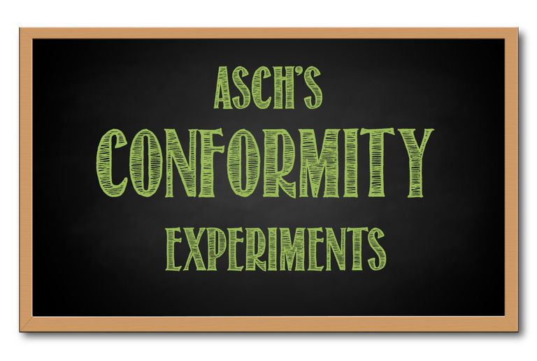 Asch's conformity experiments graphic