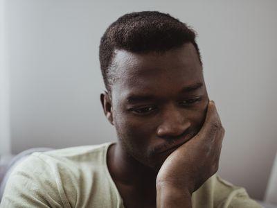 Man looking worried