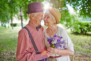 a happy senior couple