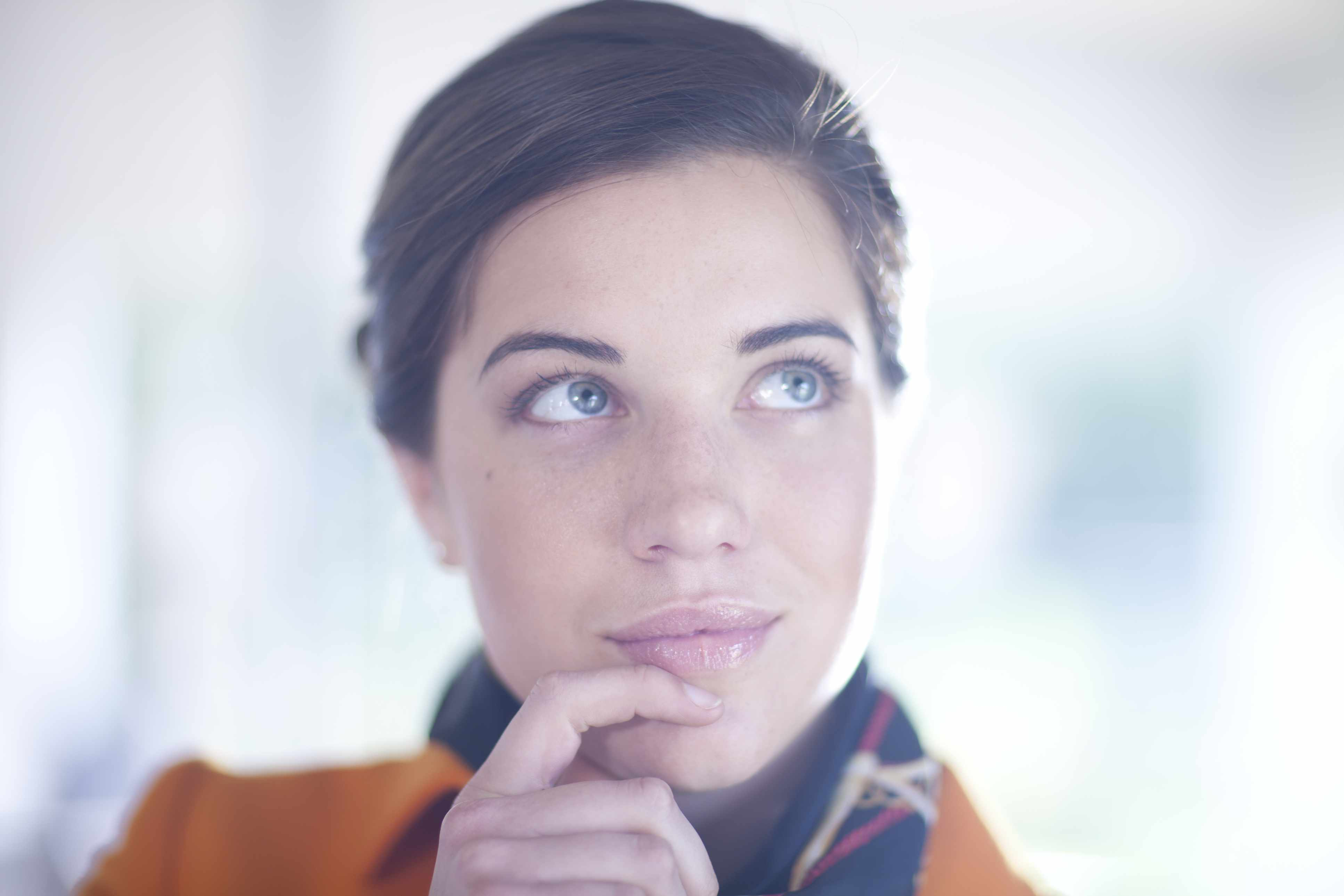 Woman visualizing her success