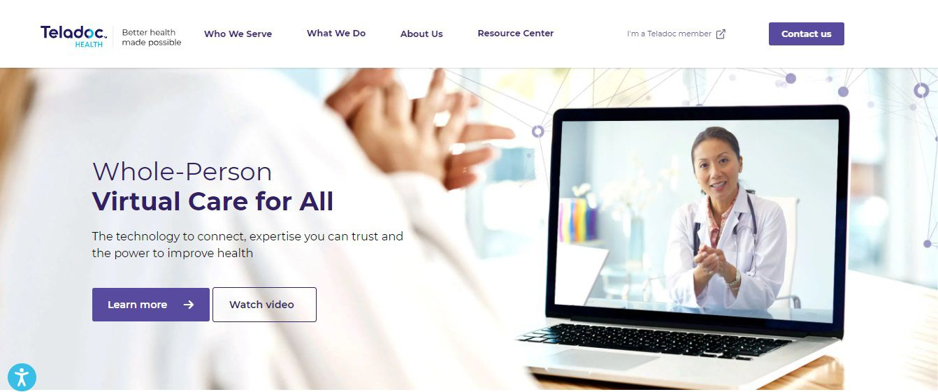 Teladoc Homepage