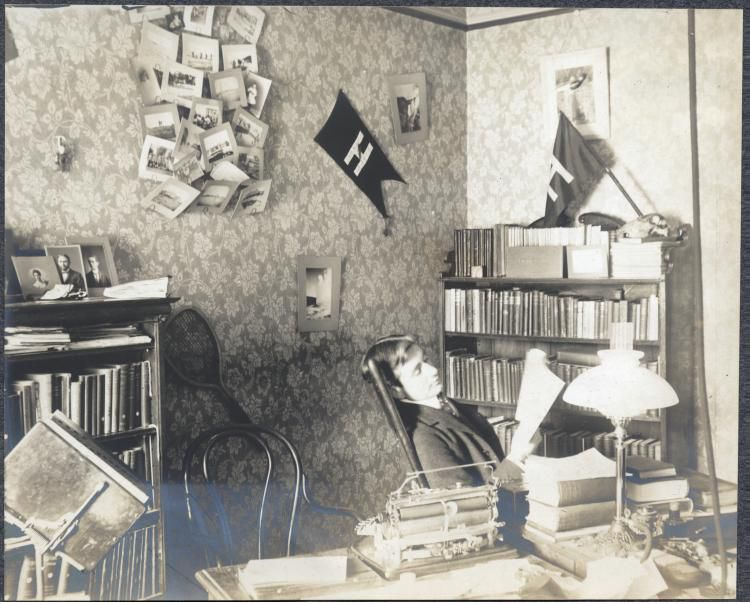 Robert Yerkes in his office at Harvard