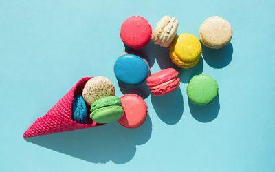 Cookies in ice cream cone