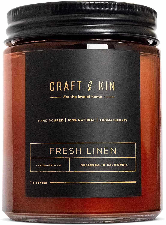 Craft & Kin Fresh Linen Candle