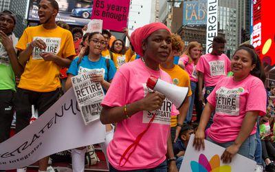 Protesting New York City's segregated school system