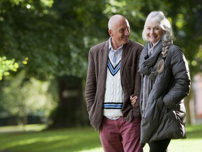 Couple senior citizens