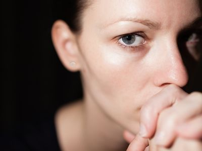anxious woman thinking