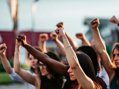 protestors-raising-their-fists