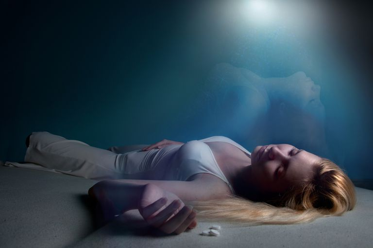 Unconscious young woman