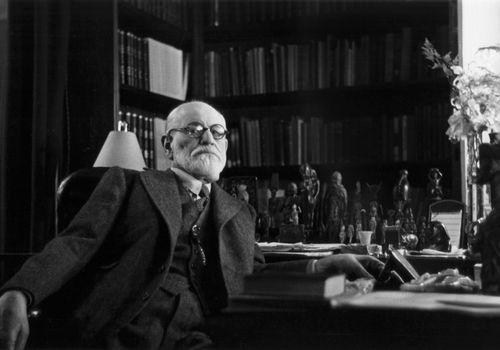 Sigmund Freud in his office