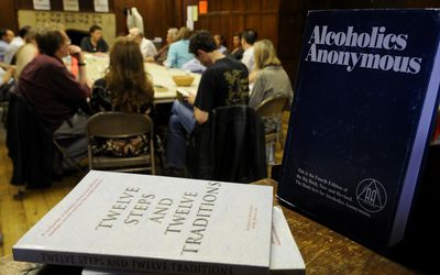 Alcoholic Anonymous meeting