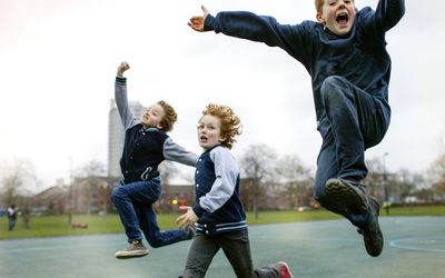 Children playing in park