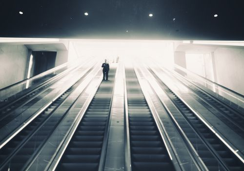 Up & down the escalator
