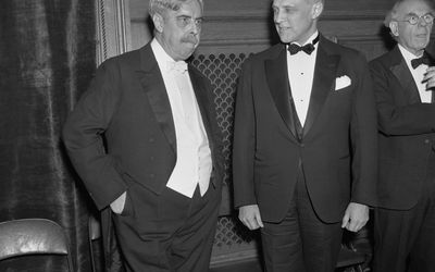 Scientists Edward Thorndike and Karl T. Compton
