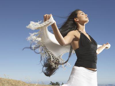 freedom joy woman in wind John Lund