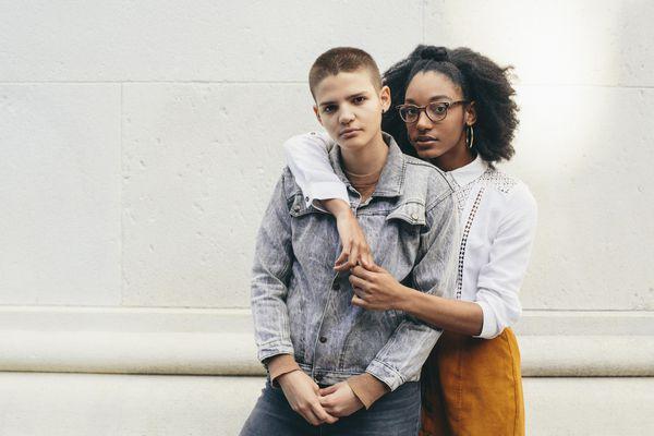 Portrait of an LGBTQ+ couple