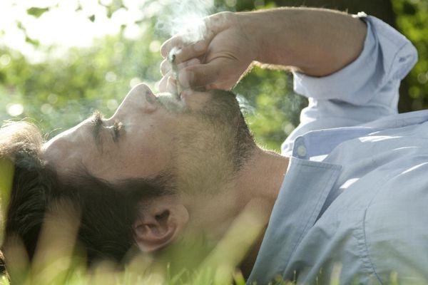 Man Smoking Joint