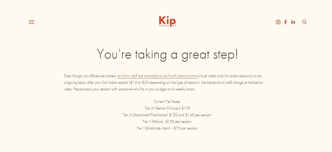Kip Booking