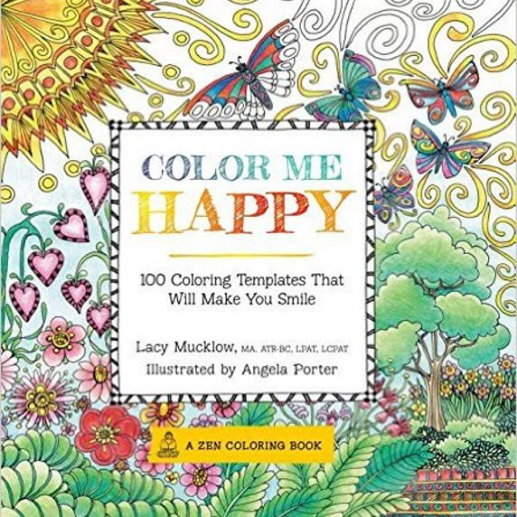 A coloring book to help lift your mood.
