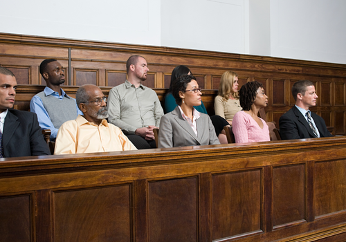 Jury in a Courtroom