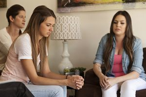 Women in a group therapy session