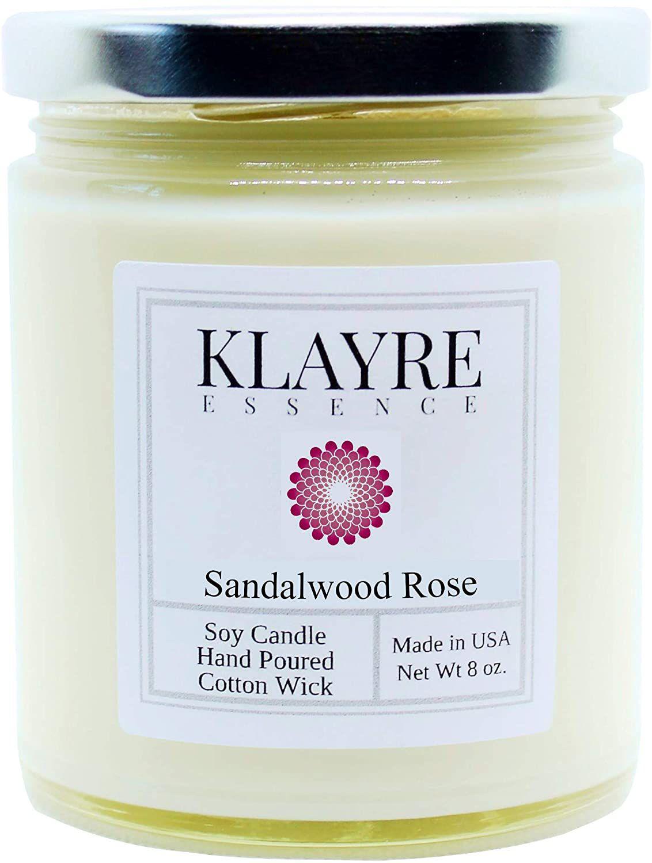 Klayre Essence Sandalwood Rose Candle