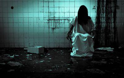 Woman in mental institute
