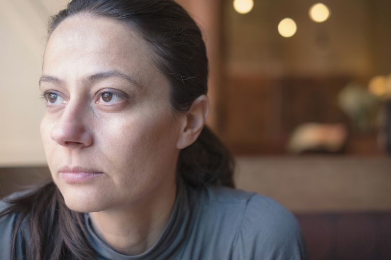 Close up of sad Caucasian woman