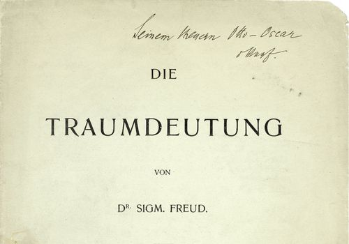 German title page for The Interpretation of Dreams
