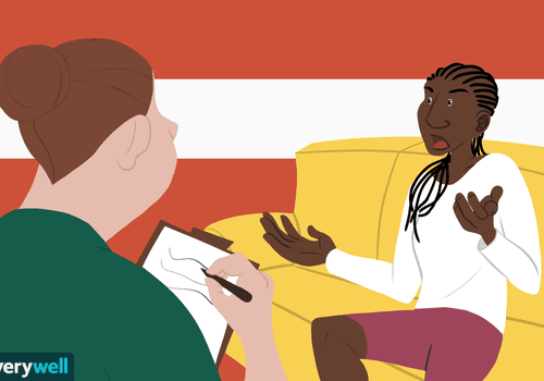 Frustrated woman in therapy