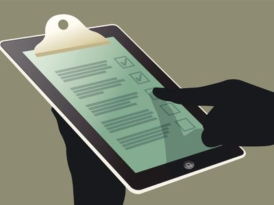 """hands holding a """"clipboard"""" ipad graphic"""