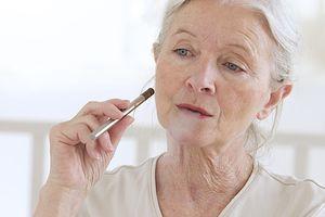 Woman using electronic cigarette