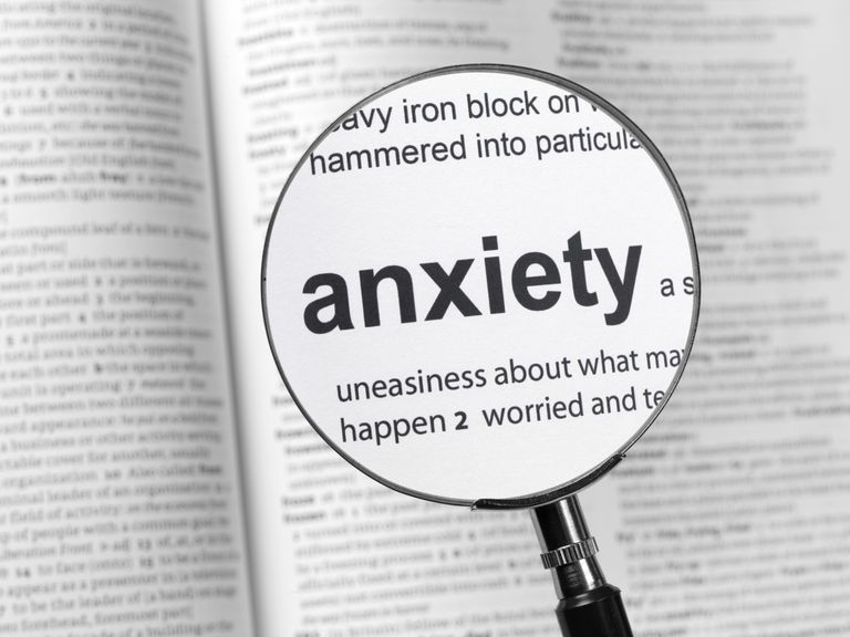 Anxiety definition under microscope.
