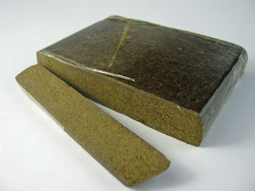 A 50g block of hashish