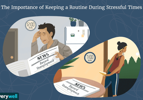 The importance of keeping a routine in stressful times