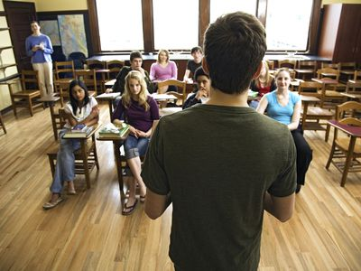 Most people with social anxiety disorder fear public speaking.