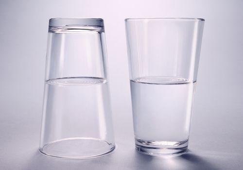 Glass Half Full Half Empty