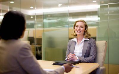 Two women in job interview