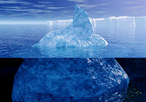 The unconscious mind is much like an iceberg below the surface