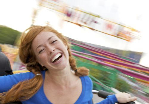 Woman on ride at the fair