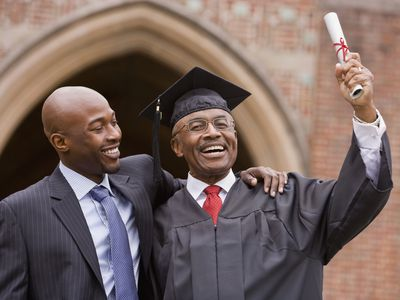 African American man with graduate father